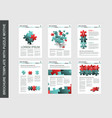brochure flyer design template with puzzle vector image vector image