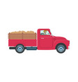 car with trailer and cargo vector image vector image