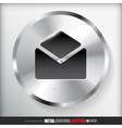 Circle Metal Contact Button vector image vector image