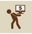 crisis economy concept icon design vector image vector image