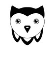 cute owl - black and white vector image vector image