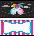 Cute Rainy Card with Birds vector image vector image