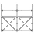 dark contour scaffolding vector image