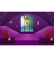 decoration house of halloween day vector image