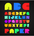 Decorative Colorful Alphabet With Origami Object vector image vector image