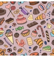 Doodle pattern sweets vector image vector image