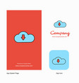 downloading company logo app icon and splash page vector image vector image