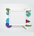 empty square white frame on a wall winter vector image vector image