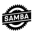 Famous dance style samba stamp vector image vector image