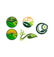global farm and garden set vector image