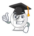 graduation webcam on the computer table character vector image vector image