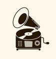 gramophone vinyl record with label music vector image vector image