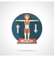 Gymnastics detailed flat color icon vector image