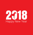 happy new year 2018 dog chines new year vector image vector image