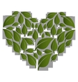 heart with healthy food isolated icon vector image vector image