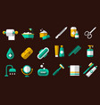 hygiene icon set toilet paper nail file vector image vector image