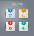 icon architecture set of home chapel house and vector image