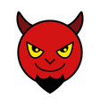 icon of red devil vector image vector image