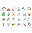 Industry work icons set vector image
