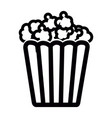 isolated cinema popcorn vector image