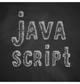 java script icon vector image vector image