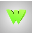Letter W comic style font EPS10 vector image vector image