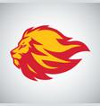 lion flame fire logo design vector image