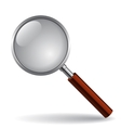 Magnifying glass isolated on white vector image