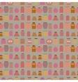 Mason jars seamless pattern Flat style vector image vector image