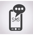 mobile sms text message mail icon vector image