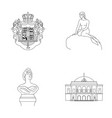 national symbol drawing and other web icon in vector image vector image