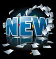 new inscription vector image vector image