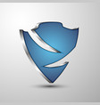 protection 3d shield emblem for you project vector image vector image
