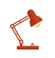 Red Desk Lamp Light Icon Flat Style vector image vector image