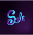 sale 3d text message vector image vector image