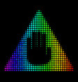 spectral colored pixel caution icon vector image vector image