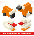 Toy Block Farm 01 Games Isometric vector image vector image