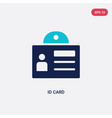 two color id card icon from gdpr concept isolated vector image vector image
