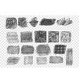 types pen hatching set vector image vector image