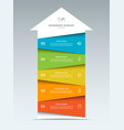 up arrow infographic template with 5 options vector image vector image
