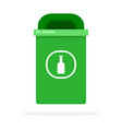 urban waste bin for glass flat isolated vector image vector image