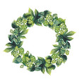 Watercolor hop wreath vector image
