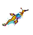 weedy seadragon made colorful splashes vector image vector image
