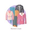 Women s Look Concept in Flat Design vector image