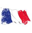 France Flag Grunge vector image