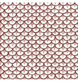 Fish Scales Seamless Pattern Cartoon Brown vector image
