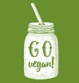 Go vegan poster vector image