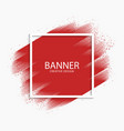 abstract red paint stroke modern banner vector image
