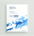 annual report brochure design with blue arrows vector image vector image