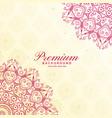 awesome mandala decoration premium background vector image